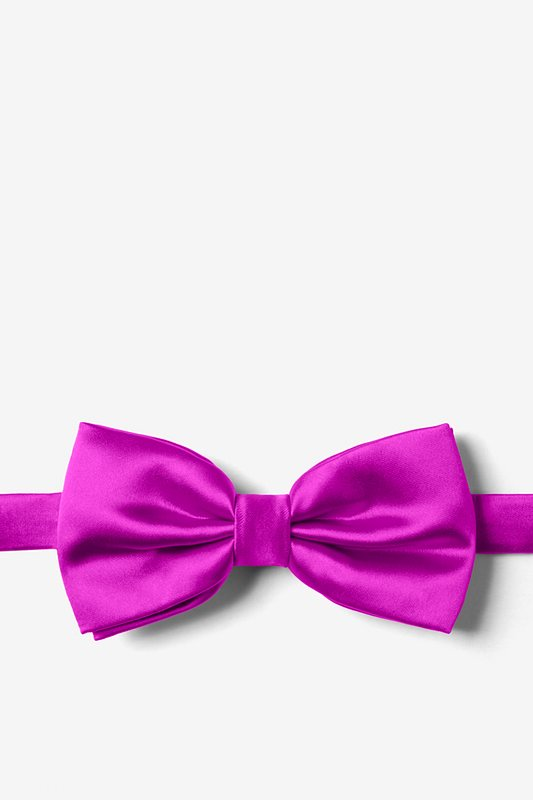 Plum Wine Pre-Tied Bow Tie Photo (0)