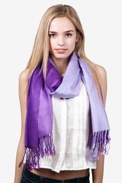 Gradient Rainbow Purple Pashmina