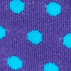 Purple Carded Cotton Buena Park Polka Dot Sock
