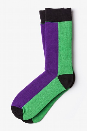 _Fullerton Split Purple Sock_