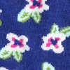 Purple Carded Cotton Garden Grove Floral Sock