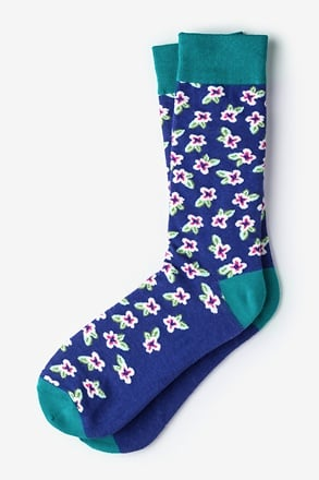 _Garden Grove Floral Purple Sock_