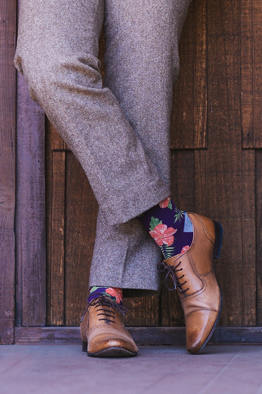Hibiscus Floral Sock Photo (2)