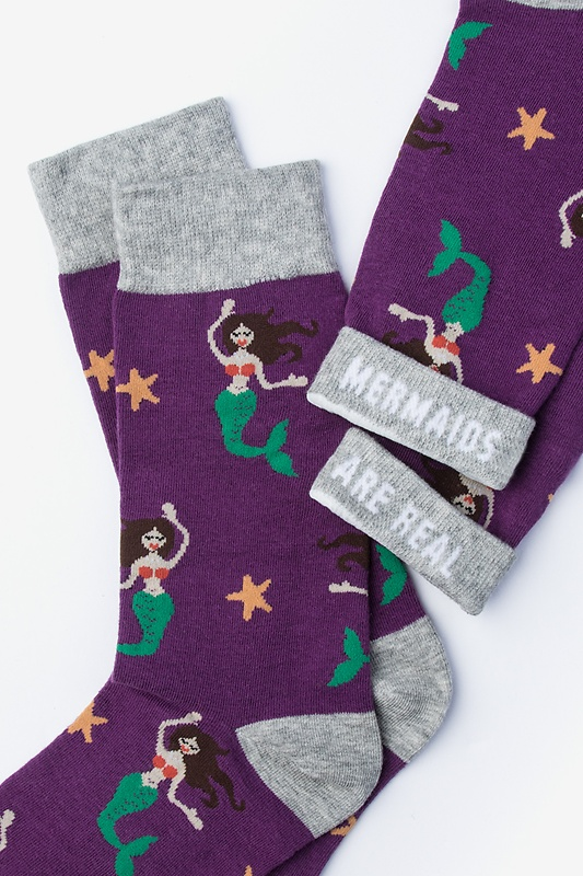 Mermaids Are Real Women's Sock
