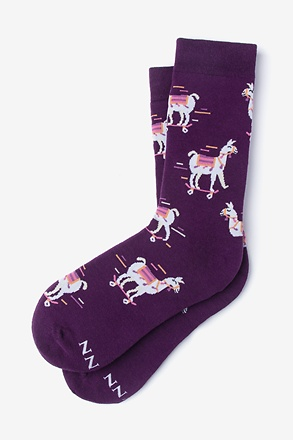 No Prob Llama Purple Women's Sock