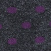Purple Carded Cotton Power Dots Sock