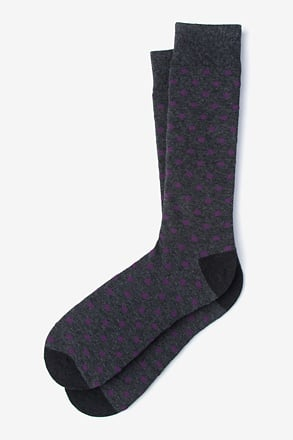_Power Dots Purple Sock_