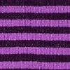 Purple Carded Cotton Seal Beach Stripe Sock
