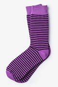 Seal Beach Stripe Purple Sock Photo (0)