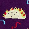 Taco Purple Sock