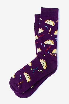 _Taco Supreme Purple Sock_