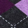 Purple Carded Cotton Westminster Argyle Sock