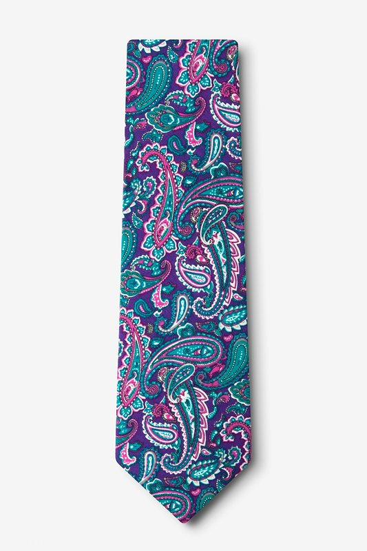 Carrollton Purple Extra Long Tie Photo (1)