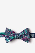 Purple Cotton Carrollton Self-Tie Bow Tie