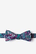 Purple Cotton Carrollton Skinny Bow Tie