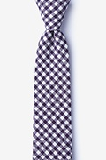 Purple Cotton Clayton Skinny Tie