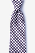 Purple Cotton Clayton Tie