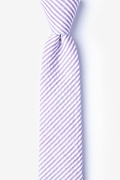 Purple Cotton Clyde Skinny Tie