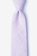 Purple Cotton Clyde Tie