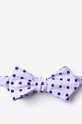 Purple Cotton Jamaica Diamond Tip Bow Tie