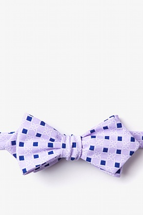 Jamaica Purple Diamond Tip Bow Tie