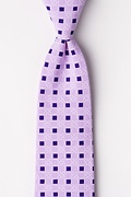 Purple Cotton Jamaica Extra Long Tie