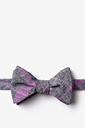 Purple Cotton Kirkland Self-Tie Bow Tie