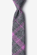 Purple Cotton Kirkland Skinny Tie