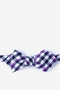 Purple Cotton Lance Diamond Tip Bow Tie