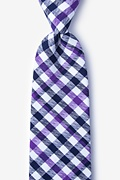 Purple Cotton Lance Extra Long Tie