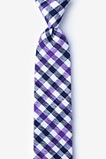 Purple Cotton Lance Skinny Tie