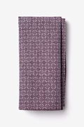 Purple Cotton Nixon Pocket Square