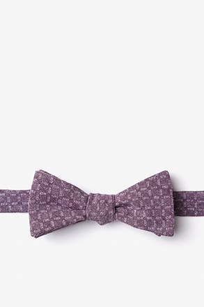 _Nixon Purple Skinny Bow Tie_