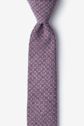 Purple Cotton Nixon Skinny Tie
