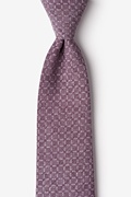 Purple Cotton Nixon Tie