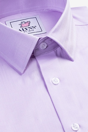Oliver Herringbone Purple Classic Fit Dress Shirt