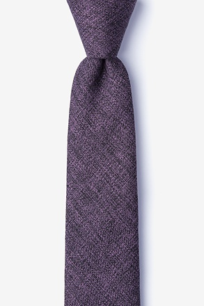 _Port Purple Skinny Tie_
