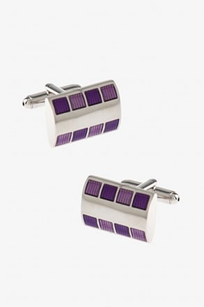 Bejeweled Rounded Plate Cufflinks