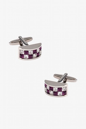 Gemstone Arch Purple Cufflinks