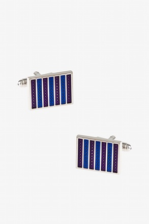 _Mini Dot Multi Stripe Cufflinks_