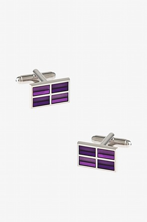 Rectangular Windowpane Cufflinks