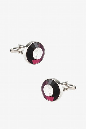 _Rounded Peaks Purple Cufflinks_