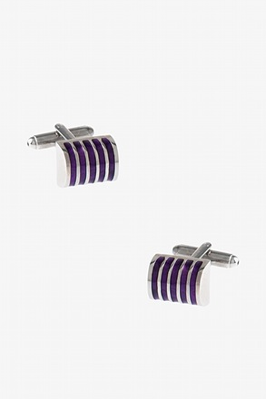 Rounded Striped Cylinder Cufflinks