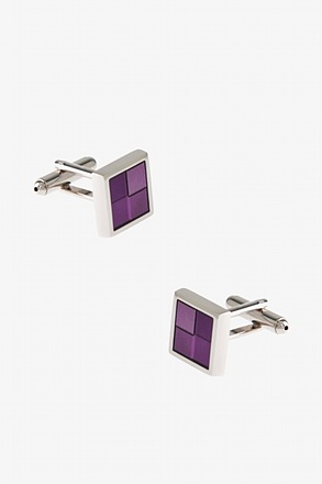 Simple Square Windowpane Cufflinks