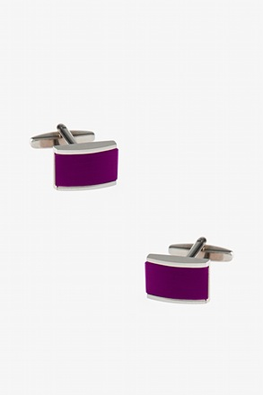 Solid Rectangular Gem Cufflinks