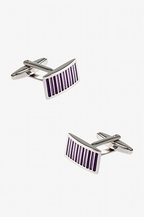 _Starry Striped Plate Cufflinks_