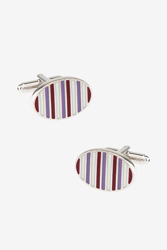 Striped Oval Cufflinks Photo (0)