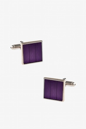 Subtle Chevron Square Cufflinks