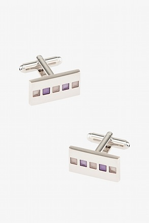 _Winslow Rectangle Purple Cufflinks_
