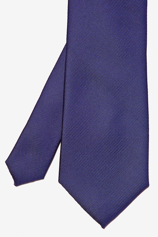 Deep Purple Textured Extra Long Tie